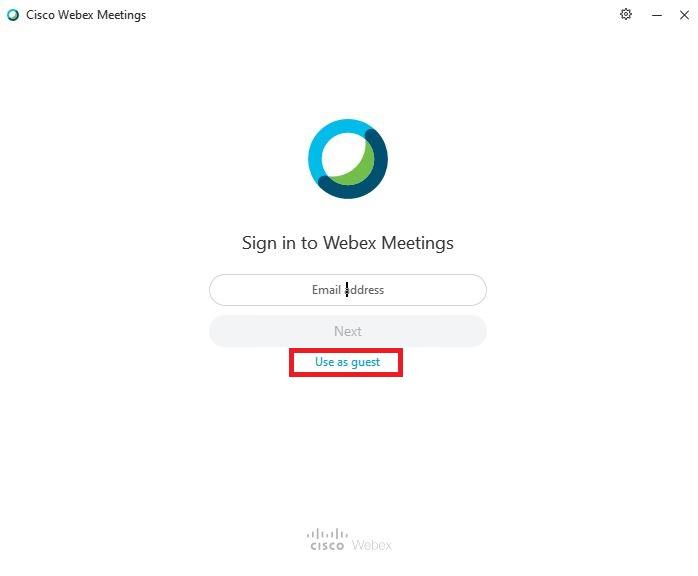 شرکت در جلسات Cisco Webex