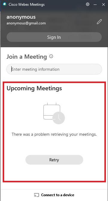 جلسات Cisco Webex