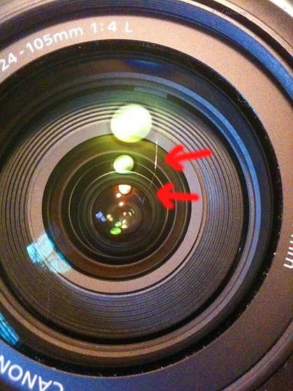 خط و خش لنز دوربین